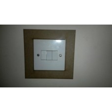 3mm MDF Plain Light Surround Light Switch Surrounds