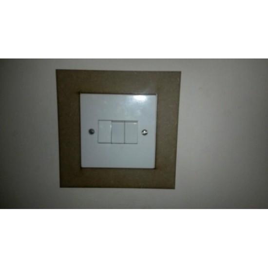3mm MDF Plain Light Surround Light Switch Surrounds