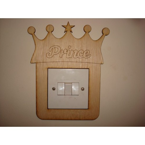 3mm MDF Prince Crown Light Surround  Light Switch Surrounds