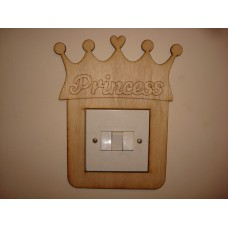 3mm MDF Princess Crown Light Surround  Light Switch Surrounds