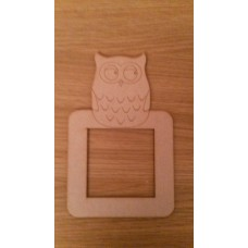 3mm MDF small owl light surround Light Switch Surrounds