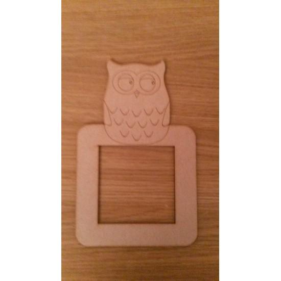 3mm MDF small owl light surround Light Switch Surrounds