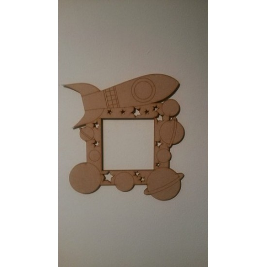 3mm MDF Space Ship and Planets light surround Light Switch Surrounds