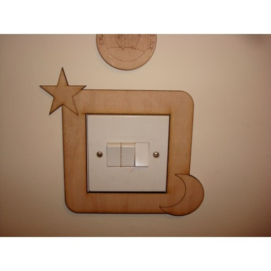3mm MDF Star and Moon Light Surround