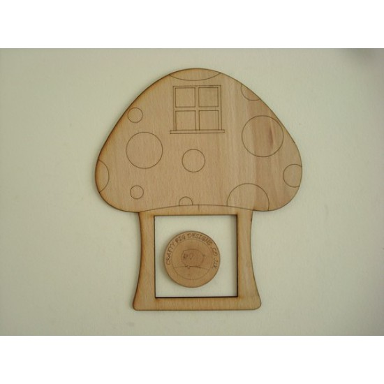 3mm MDF Etched Toadstool House Light Surround  Light Switch Surrounds