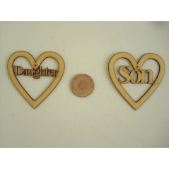 3mm MDF Daughter Heart