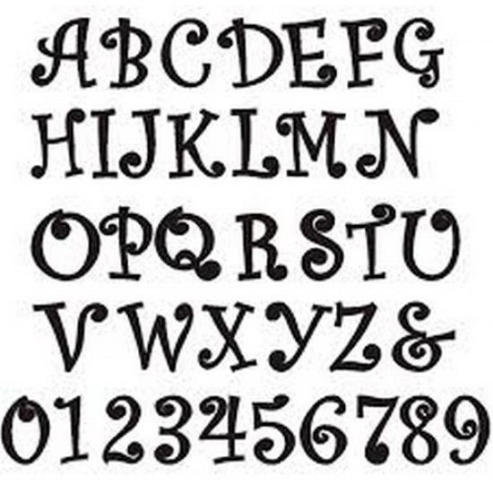 3mm MDF Curlz Font Letters and numbers