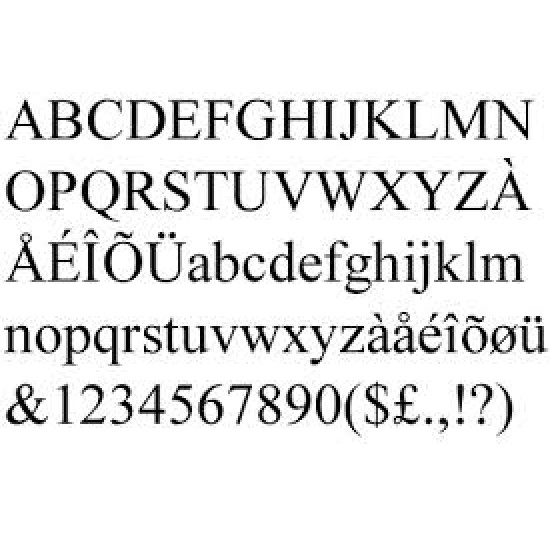 3mm MDF Times New Roman Font Letters and numbers 3, 4 and 6mm Letters & Numbers