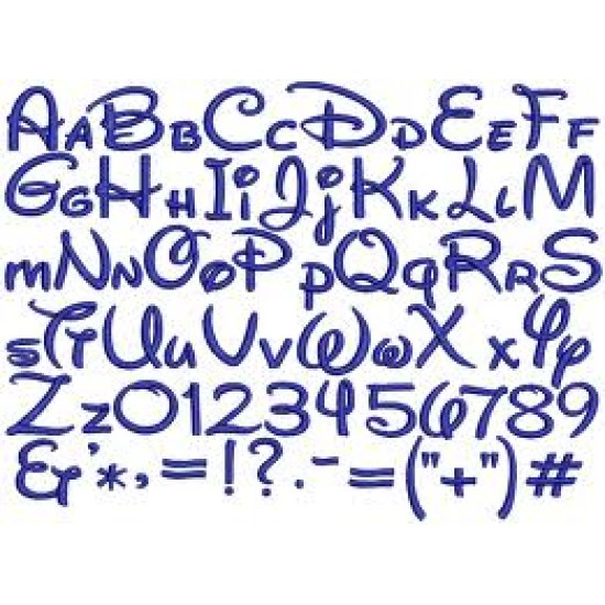 3mm MDF Waltograph Font Letters and numbers 3, 4 and 6mm Letters & Numbers