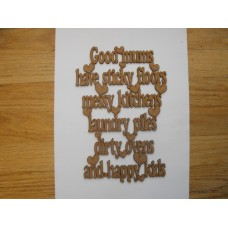 3mm MDF Good dads have sticky floors messy kitchens laundry piles and happy kids Fathers Day