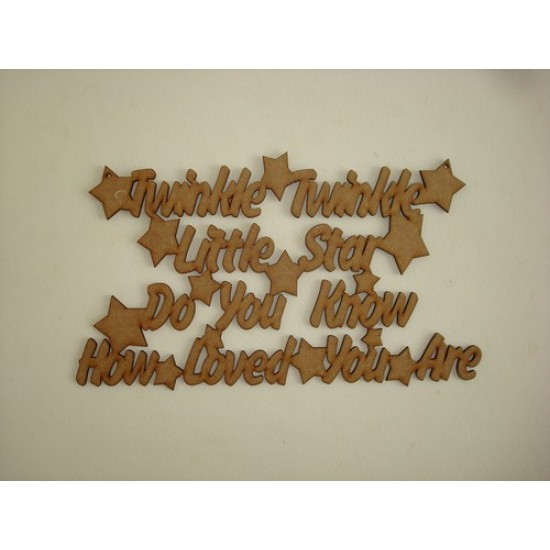 3mm MDF Twinkle Twinkle Little Star No Border (larger size) Baby Shapes