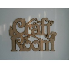 3mm MDF Craft Room Door Plaque Room & Door Plaques