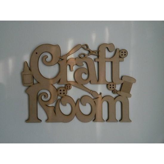 3mm MDF Craft Room Door Plaque Room & Door Plaques
