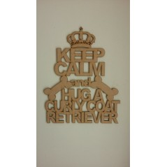 3mm MDF KEEP CALM AND HUG A...........(state your chosen breed in the text area) Personalised and Bespoke
