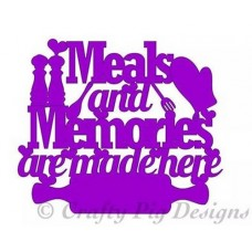 3mm MDF Meal and Memories Made here laser cut sign Home