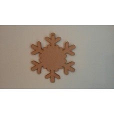 3mm MDF New Snowflake Shape (full centre) Christmas Shapes