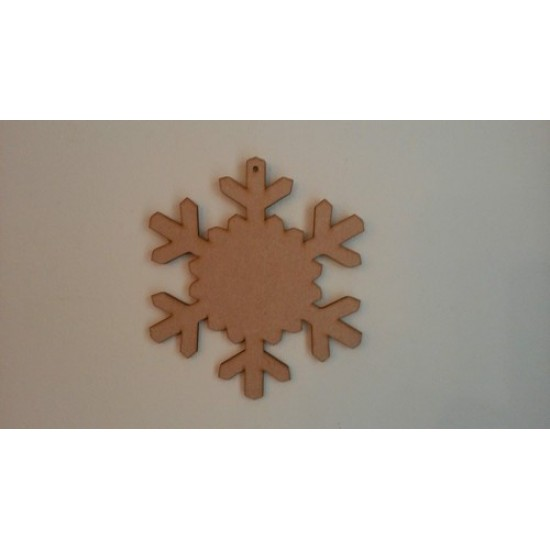 3mm MDF New Snowflake Shape (full centre)