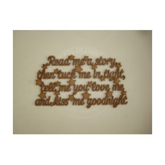 3mm MDF Read ME a Story, Tuck ME In Tight Plaque Baby Shapes