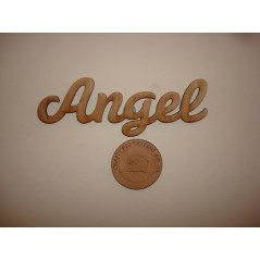 3mm MDF Angel Word in Susa Font Joined Words