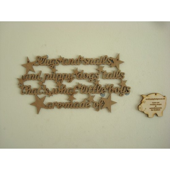 3mm MDF Slugs and Snails Quote