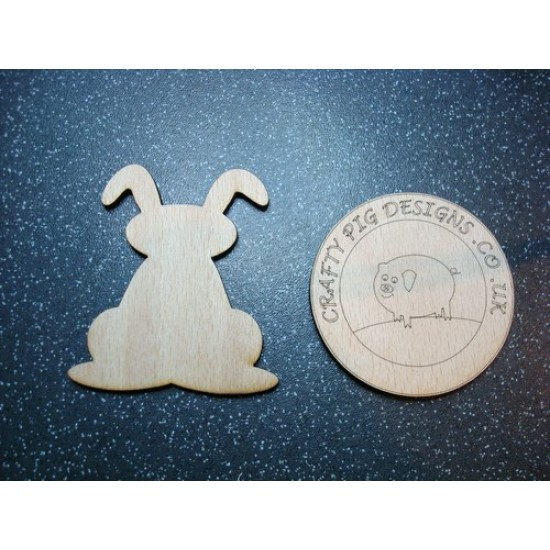 3mm MDF Floppy Eared Bunny/rabbit - no detail Easter