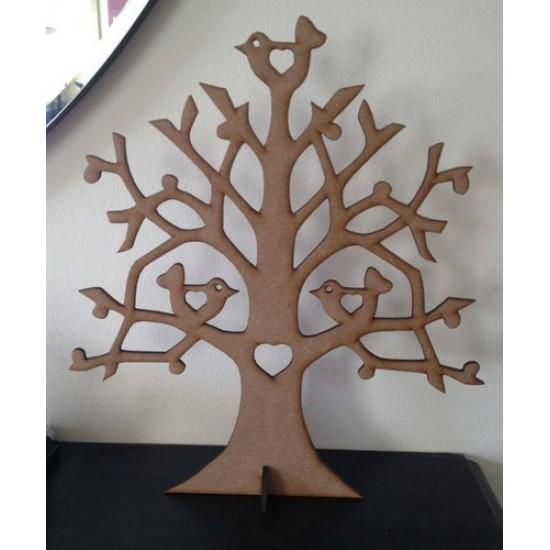 3mm MDF Lovebirds Tree Trees Freestanding, Flat & Kits