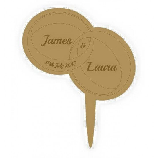 3mm MDF Rings - Wedding Cake topper - Personalised with names & date  Personalised and Bespoke
