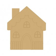 3mm MDF 3D Cute House with 3 matching windows  Fairy Doors and Fairy Shapes