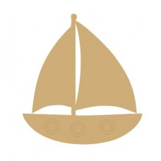 3mm MDF Sail Boat (Pack of 5) (4cm) Transport