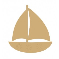 3mm MDF Sail Boat (Pack of 5) (4cm)