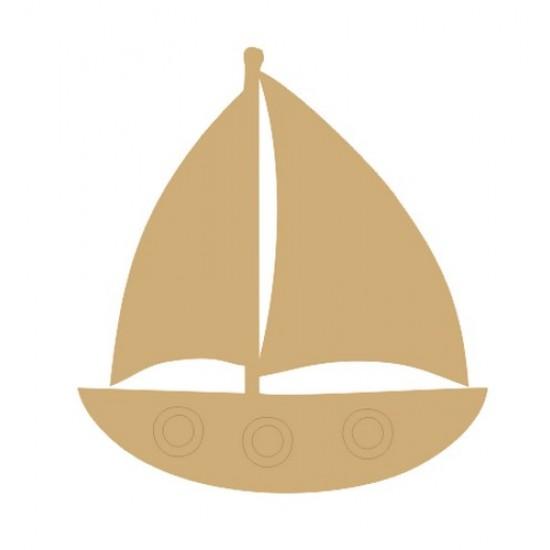 3mm MDF Sail Boat (Pack of 5) (4cm) Transport