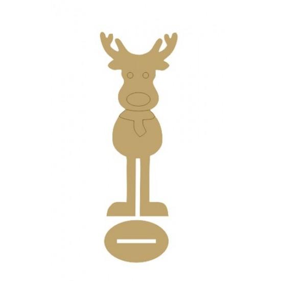 4mm MDF Boy Reindeer - Freestanding Christmas Shapes