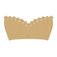 Bra Shape Small MDF Embellishments