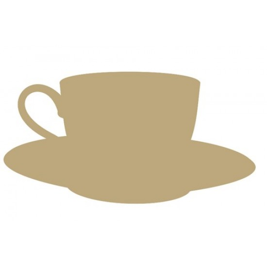 Cup & Saucer (Pack of 5)(4cm) Small MDF Embellishments
