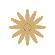 3mm MDF Daisy Flower Flowers and Garden