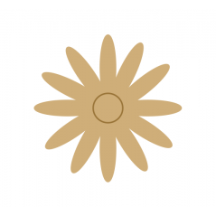 3mm MDF Daisy Flower
