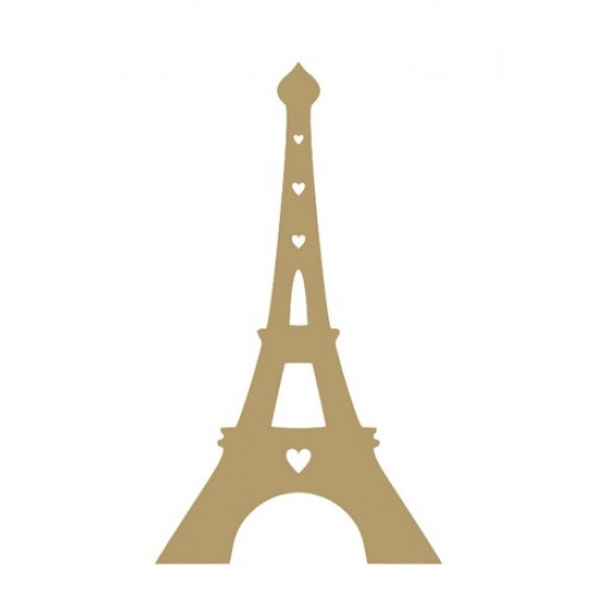 Eifell Tower Small MDF Embellishments
