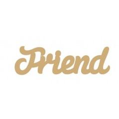 3mm MDF Friend Word Joined in Susa Font Joined Words