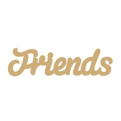 3mm MDF Friends Word in Susa Font Joined Words