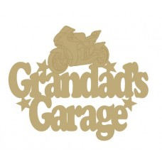 3mm MDF Grandad's Garage with bike Fathers Day