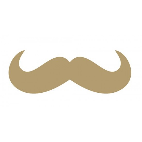 Moustache Small MDF Embellishments
