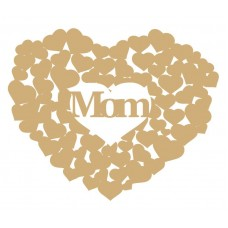 3mm MDF Mom heart of hearts Hearts With Words