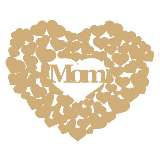 3mm MDF Mom heart of hearts