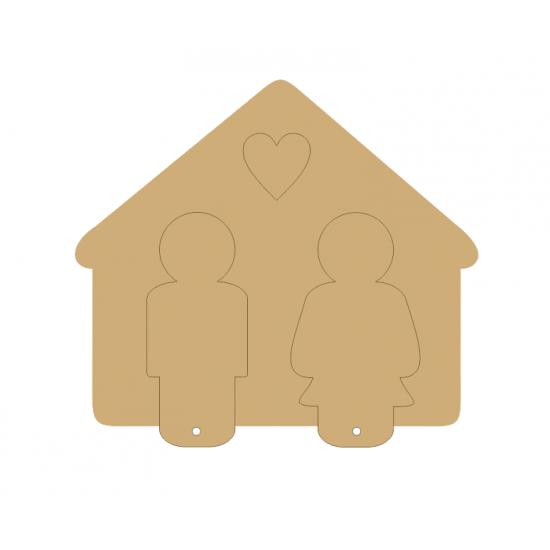 3mm MDF Mr and Mrs Keyhouse