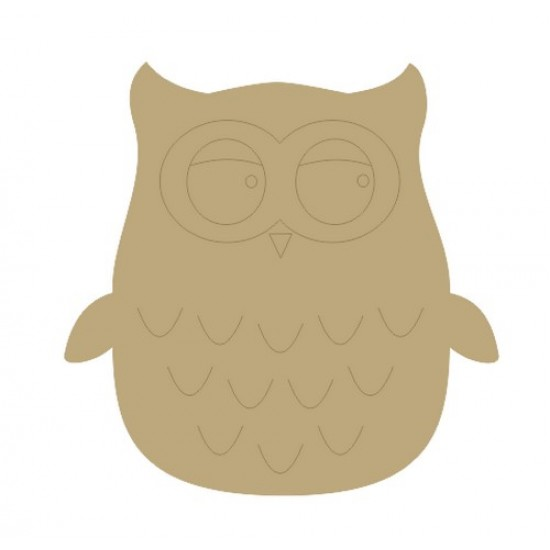 Owl (Pack of 5)(4cm) Small MDF Embellishments