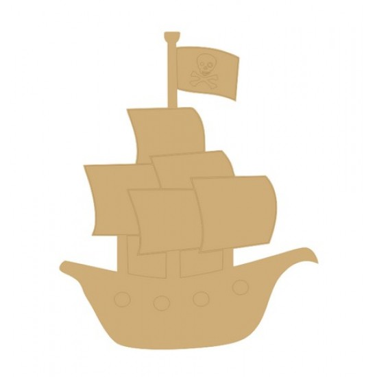 18mm Pirate ship 18mm MDF Craft Shapes