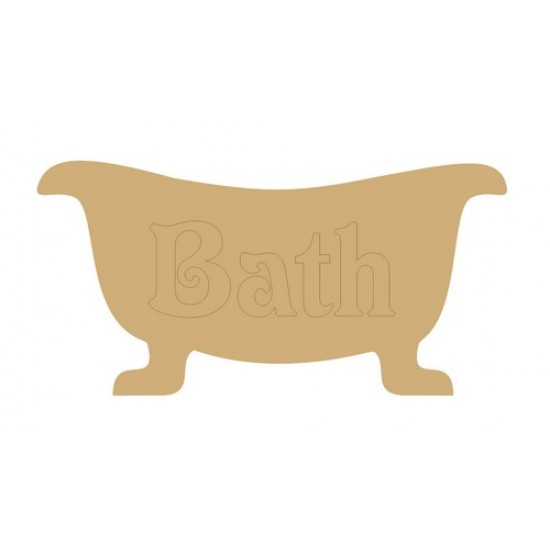 Roll Top Bath Plaque with or without detail Basic Plaque Shapes