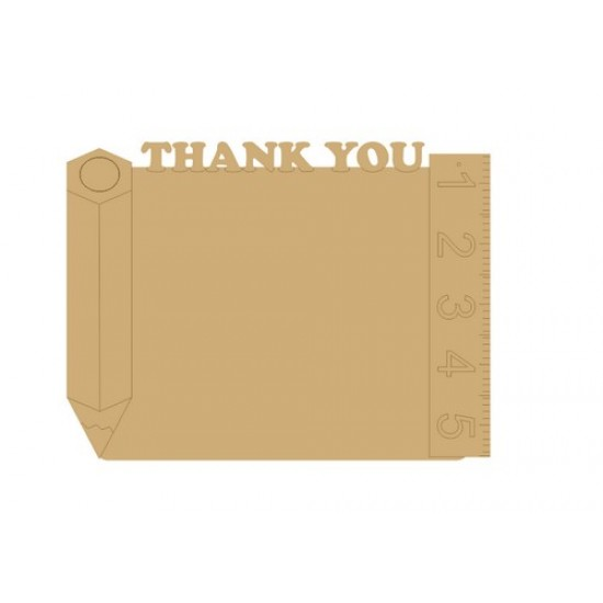 3mm MDF Thank You with Pencils Chalkboard Chalkboard Countdown Plaques