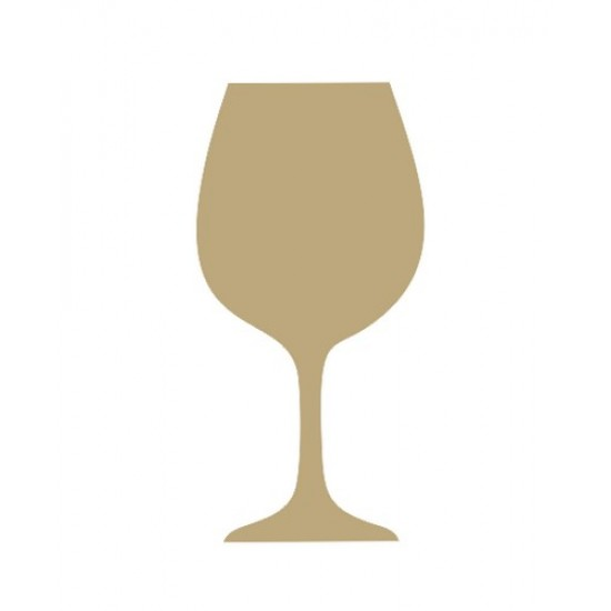 Wine glass (Pack of 5)(4cm) Small MDF Embellishments