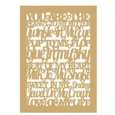 3mm MDF You are the peanut to my butter (Mixed Words in border) Quotes & Phrases